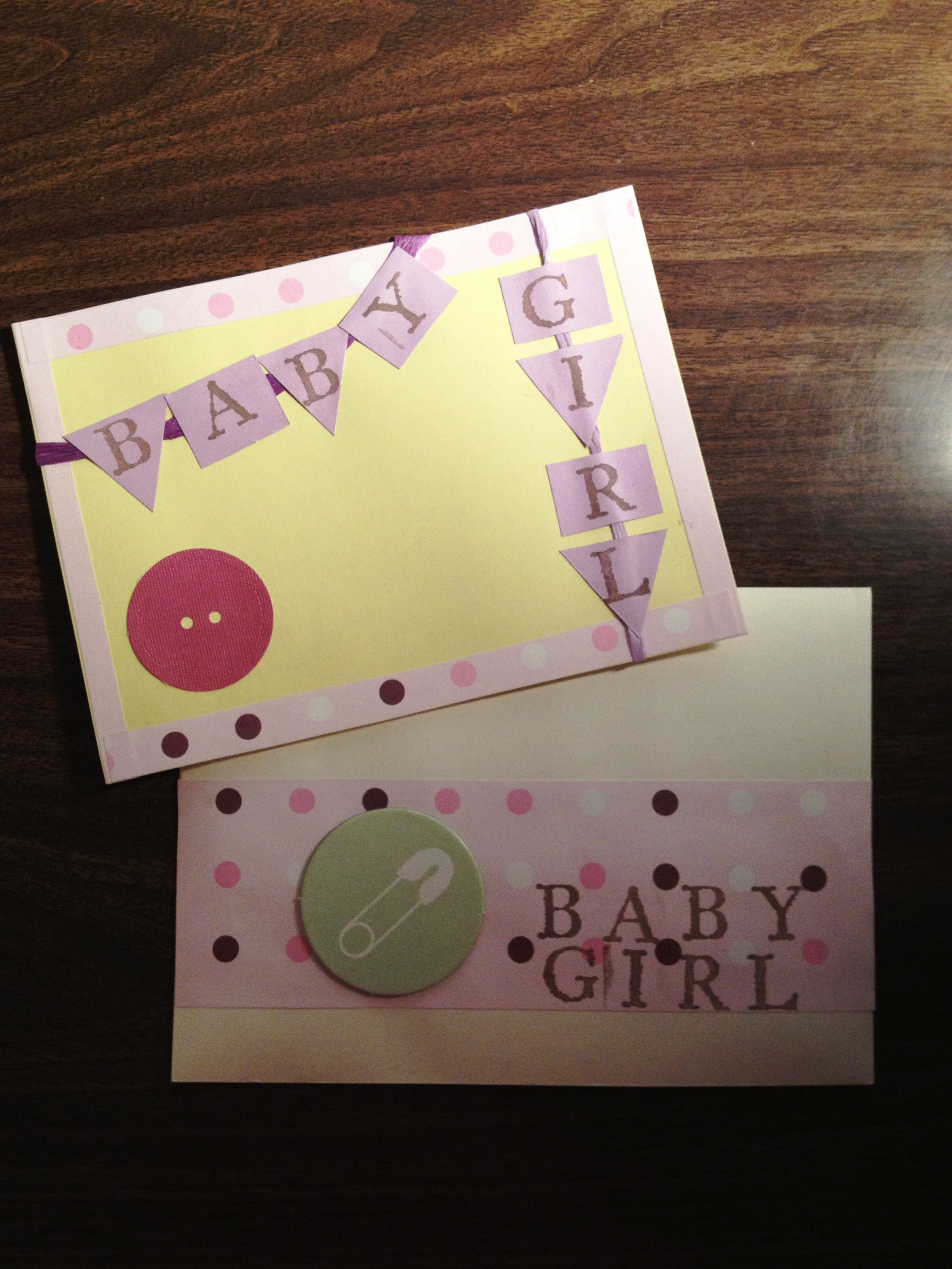 cards for baby girl