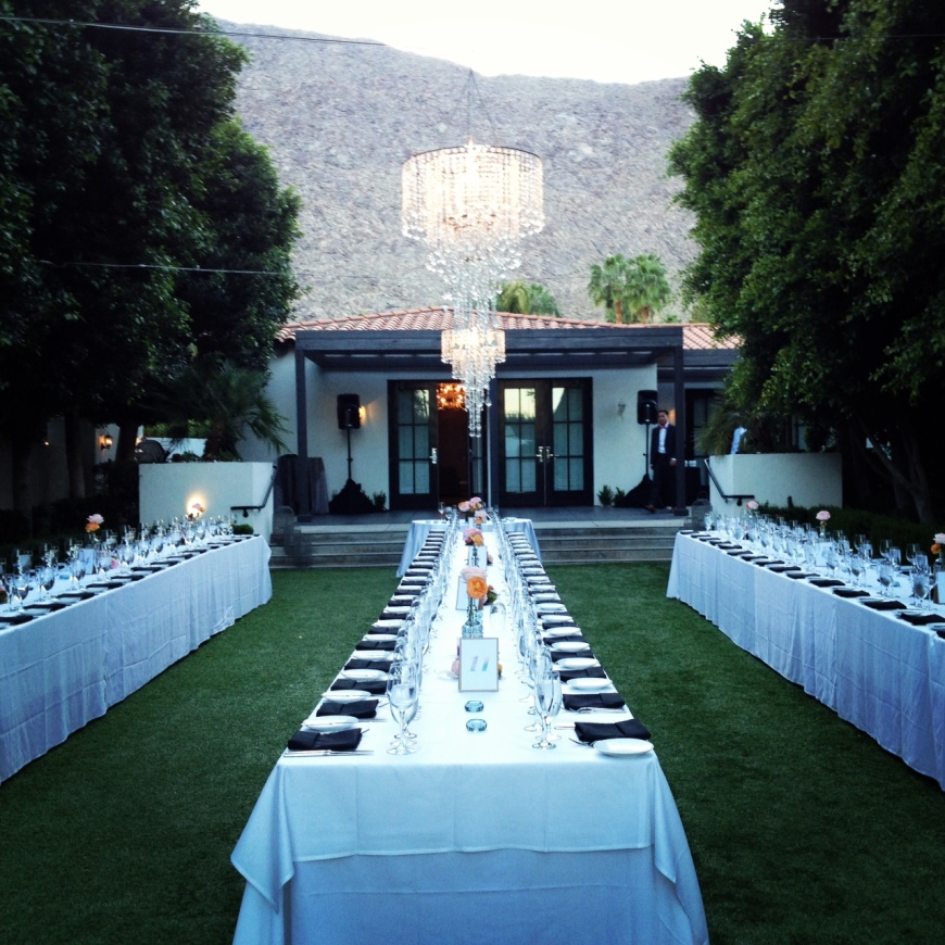Viceroy Palm Springs Reception - http://itsjoulife.wordpress.com/2013/03/19/palm-springs-wedding/