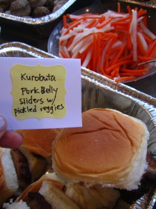 kurobuta pork belly sliders via http://itsjoulife.wordpress.com/2013/04/02/a-blissful-30th-birthday/