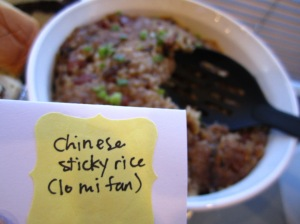 chinese sticky rice via http://itsjoulife.wordpress.com/2013/04/02/a-blissful-30th-birthday/