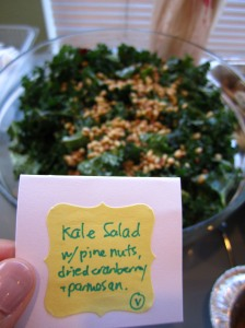 kale salad via http://itsjoulife.wordpress.com/2013/04/02/a-blissful-30th-birthday/