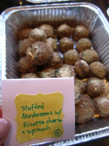 stuffed mushroom w/ ricotta & spinach via https://itsjoulife.wordpress.com/2013/04/02/a-blissful-30th-birthday/