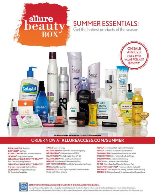 allure summer beauty box