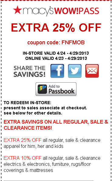 macy's 25% coupon! via itsjoulife http://wp.me/p3cljj-8W