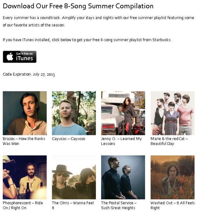 free 8-song starbucks' sampler via it's jou life http://wp.me/p3cljj-bx