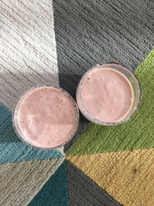 day 1 #birchboxchallenge // strawberry shortcake smoothie for bfast via It's Jou Life blog https://itsjoulife.wordpress.com/?p=1025