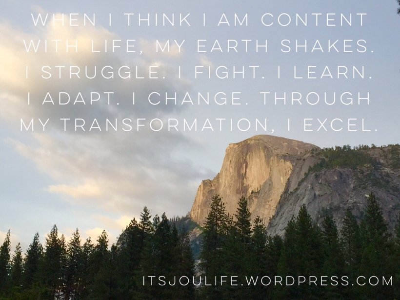 My Transformation Process // https://itsjoulife.wordpress.com/2016/02/24/how-i-deal-with-struggle-weekly-thought
